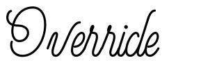 Override font