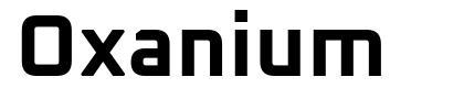 Oxanium font
