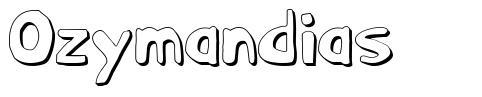 Ozymandias font