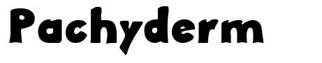 Pachyderm font
