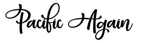 Pacific Again шрифт
