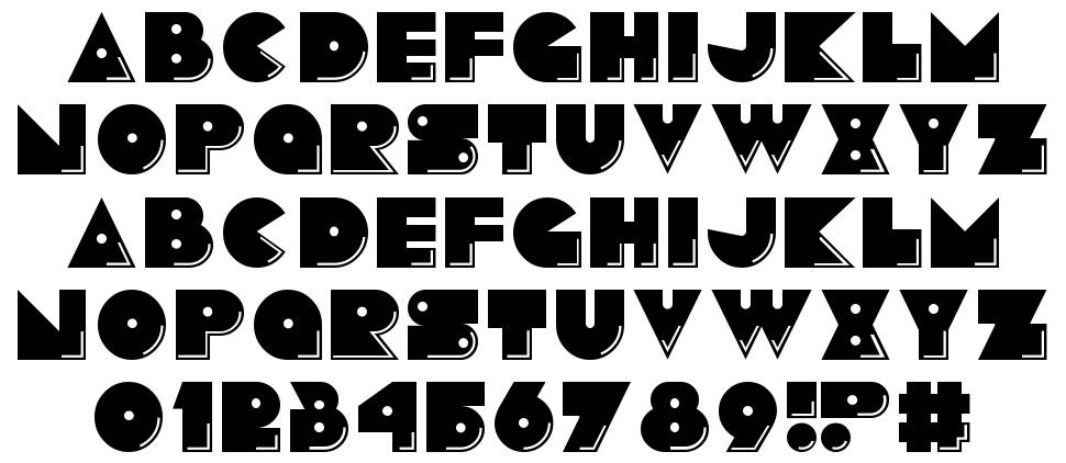 Pacmania font
