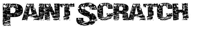 Paint Scratch font
