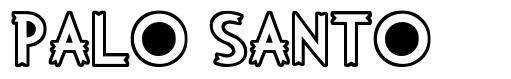 Palo Santo font