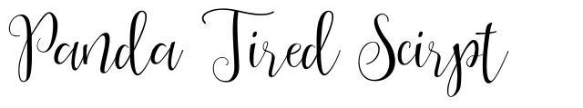 Panda Tired Scirpt font