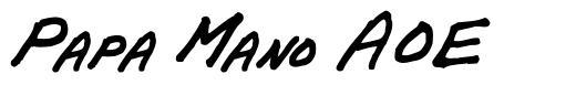 Papa Mano AOE font