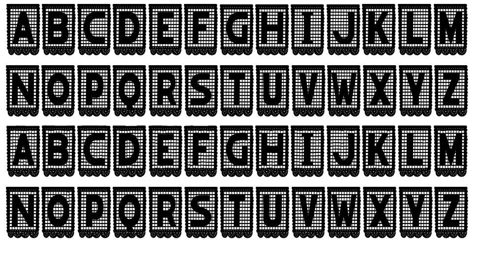 Papel Picado font