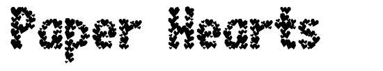 Paper Hearts font