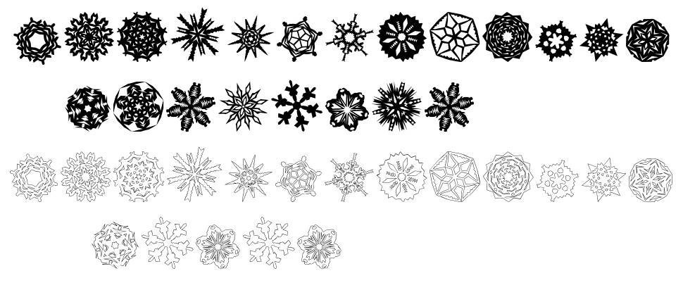 Paper-Snowflakes schriftart