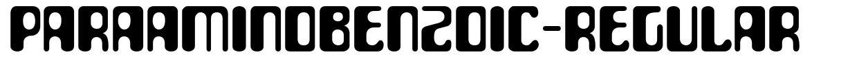 ParaAminobenzoic-Regular font