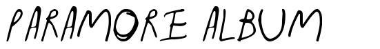 Paramore Album font