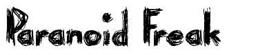 Paranoid Freak font
