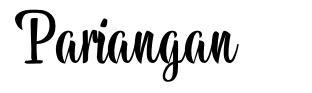 Pariangan font
