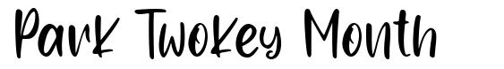 Park Twokey Month fonte