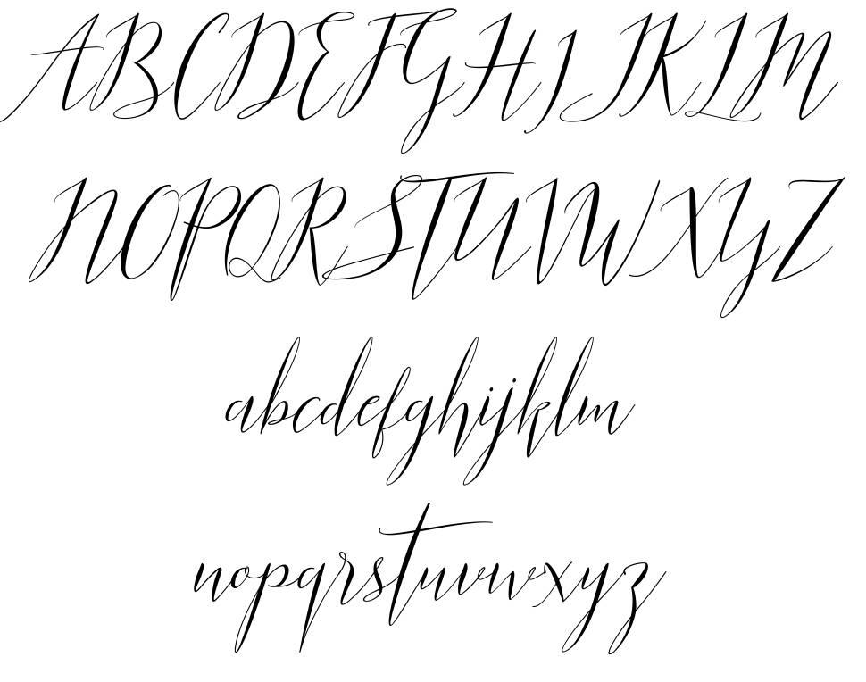 Parlinttons Script font