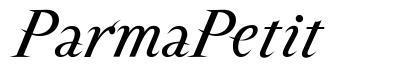 ParmaPetit font