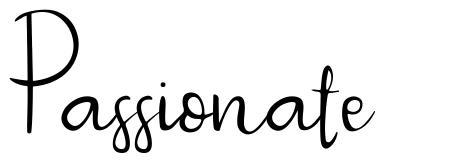 Passionate font