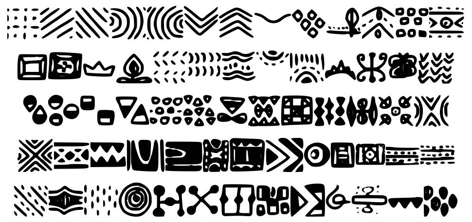 Patterns font