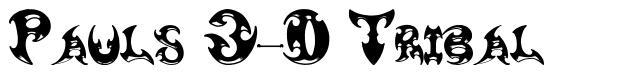 Pauls 3-D Tribal 字形