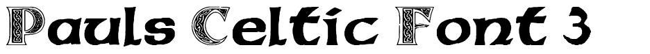 Pauls Celtic Font 3 schriftart