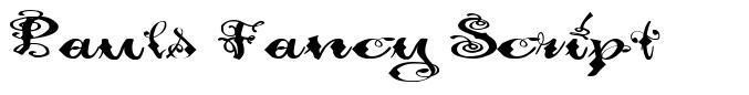 Pauls Fancy Script font