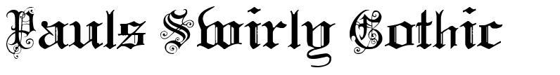 Pauls Swirly Gothic 字形