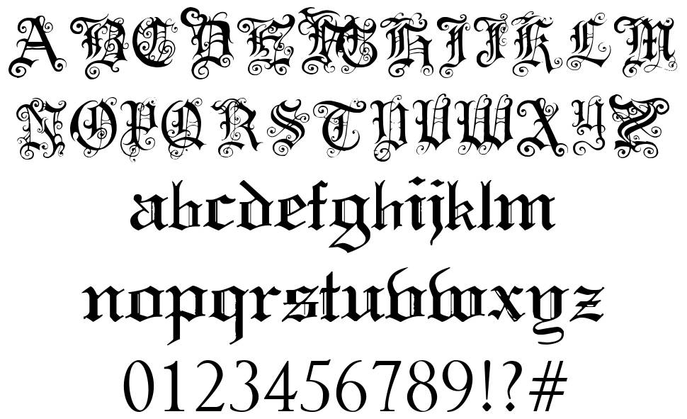 Download Free gothic letters