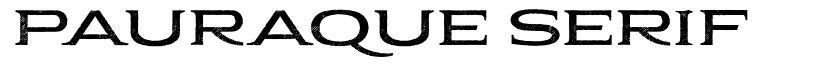 Pauraque Serif fonte