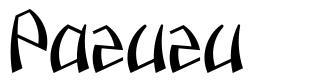 Pazuzu font