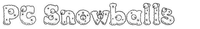 PC Snowballs 字形