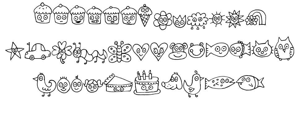 Pea Jelene's Doodles font