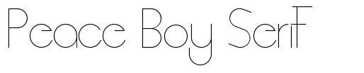 Peace Boy Serif font