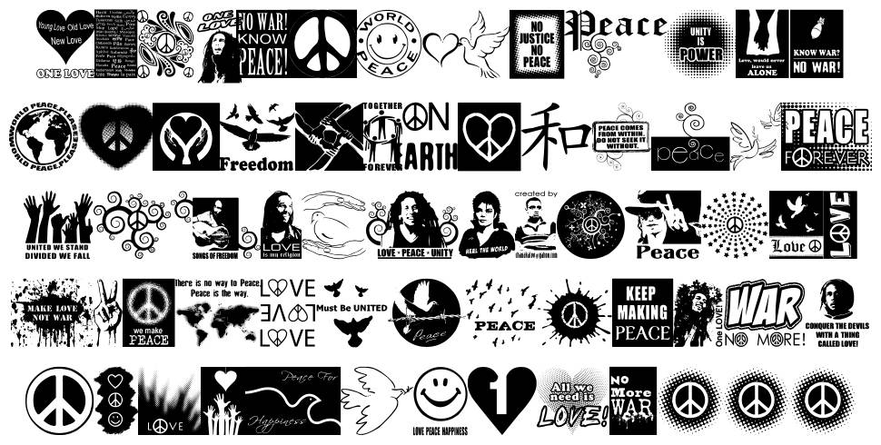 Peace Forever font