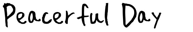 Peacerful Day font
