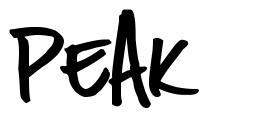 Peak шрифт