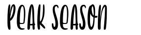 Peak Season font