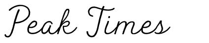 Peak Times font
