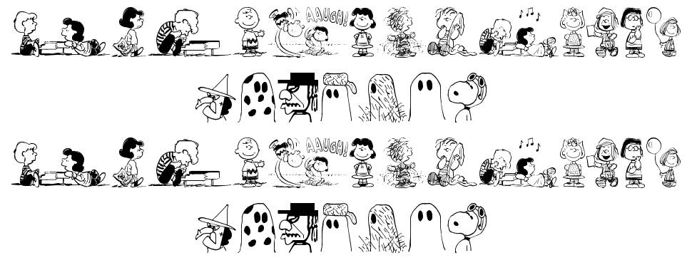 Peanuts Gang Dings font