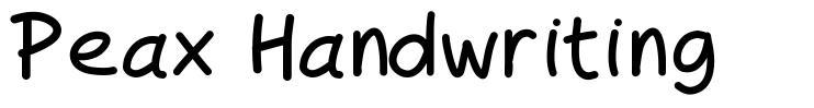 Peax Handwriting font