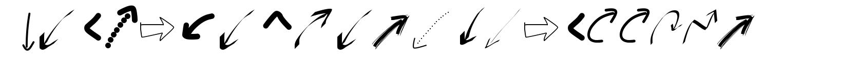 Peax Webdesign arrows font