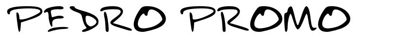 Pedro Promo font