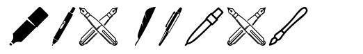 Pen Icons schriftart