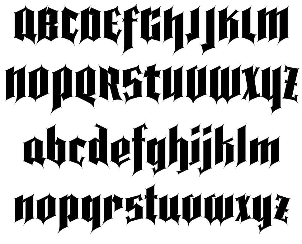 Pena Caldaria písmo