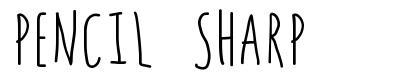 Pencil Sharp font