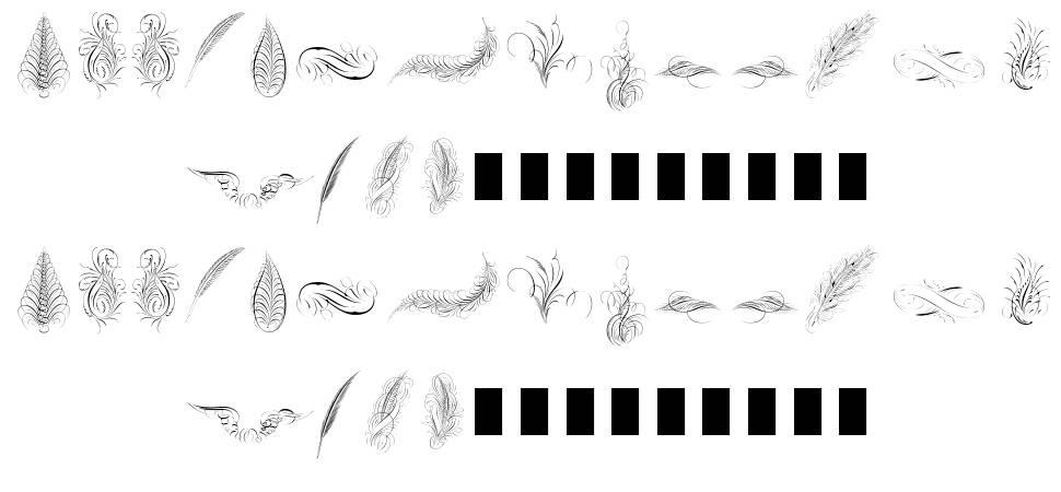 Penmanship Feathers फॉन्ट