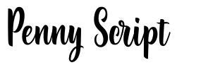 Penny Script schriftart