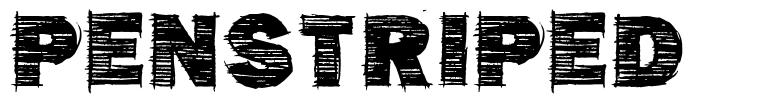 Penstriped font