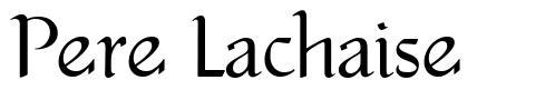 Pere Lachaise font