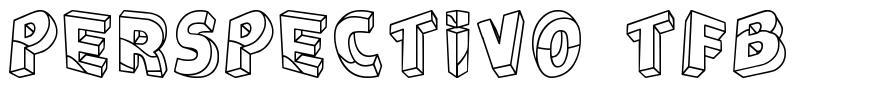 Perspectivo TFB font