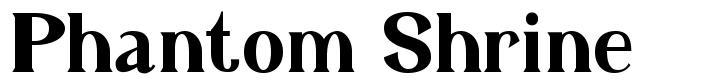 Phantom Shrine font